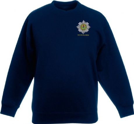 The Scots Guards | Scots Guards sweatshirt in navy blue with embroidered cap badge.